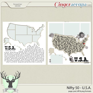 Around the World Countries: United States Templates by Dear Friends Designs