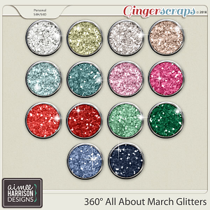 360° All About March Glitters by Aimee Harrison