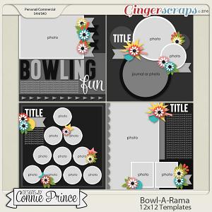 Bowl-A-Rama - 12x12 Templates (CU OK)