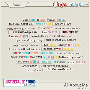 All About Me Word Bits by JB Studio