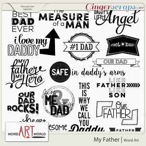 My Father Word Art