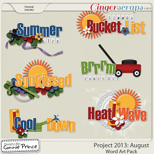Project 2013: August  - WordArt Pack