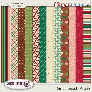 Gingerbread - Papers by Aprilisa Designs