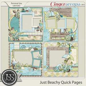 Just Beachy 12x12 Quick Pages