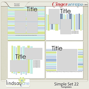 Simple Set 22 Templates by Lindsay Jane