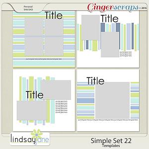 Simple Set 22 Templates by Lindsay Jane