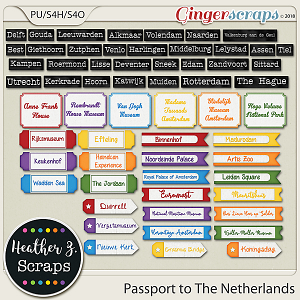 Passport to The Netherlands WORD BITS by Heather Z Scraps