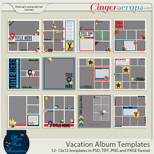 Vacation Album Bundle by Miss Fish