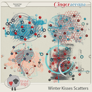 Winter Kisses Scatters by Luv Ewe Designs