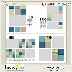 Simple Set 18 Templates by Lindsay Jane