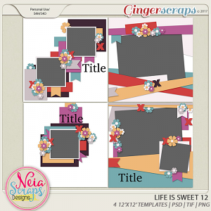 Life is Sweet 12 - Templates - By Neia Scraps