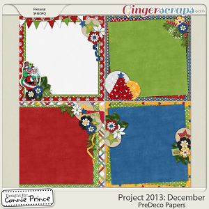Project 2013:  December - PreDeco Papers