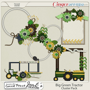 Retiring Soon - Big Green Tractor - Cluster Pack