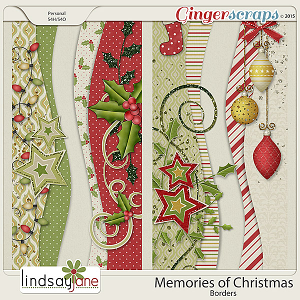 Memories of Christmas Borders by Lindsay Jane