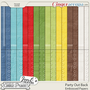 Party Out Back - Embossed Papers