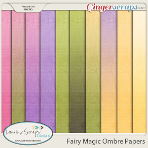 Fairy Magic Ombre Papers