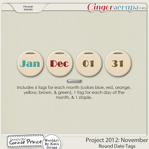 Retiring Soon - Project 2012: November - Round Date Tags