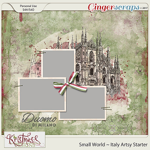 Small World ~ Italy Artsy Starter