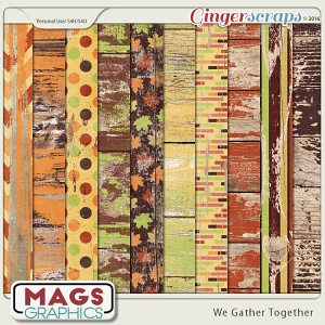 We Gather Together WOOD PAPERS by MagsGraphics
