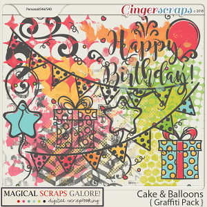Cake & Balloons (graffiti pack)