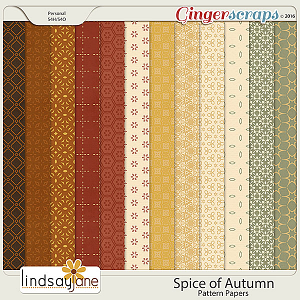 Spice of Autumn Pattern Papers by Lindsay Jane