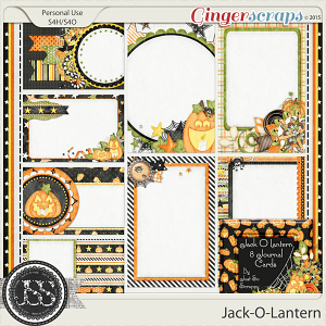 Jack O Lantern Journal and Pocket Scrapbooking Cards