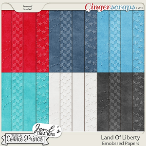 Land Of Liberty - Embossed Papers