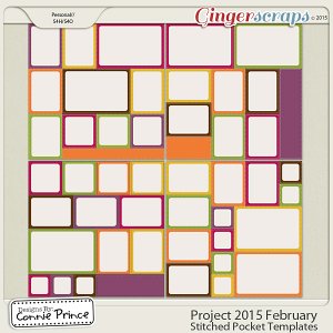 Project 2015 February - Stitched Pocket Templates