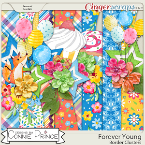 Forever Young - Border Clusters by Connie Prince