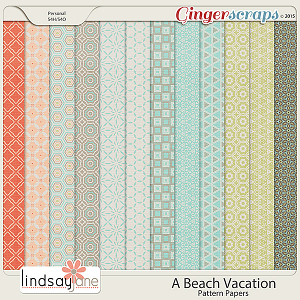 A Beach Vacation Pattern Papers by Lindsay Jane
