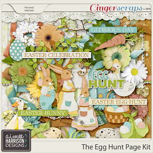 The Egg Hunt Page Kit by Aimee Harrison