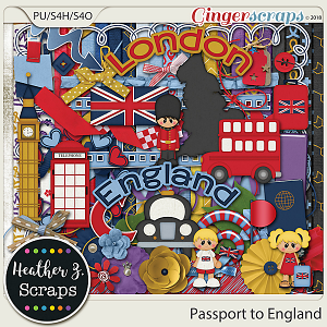 Passport to England KIT by Heather Z Scraps