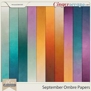 September Ombre Papers by JoCee Designs