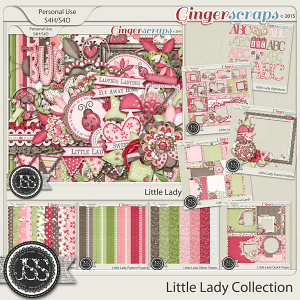 Little Lady Digital Scrapbooking Collection