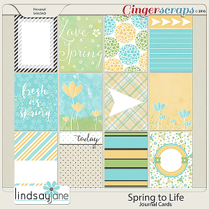 Spring to Life Journal Cards by Lindsay Jane