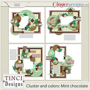 Cluster and colors: mint chocolate