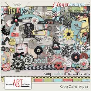 Keep Calm Page Kit