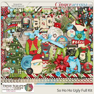 So Ho Ho Ugly Full Kit by Trixie Scraps Designs
