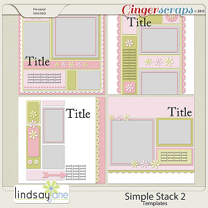 Simple Stack 2 Templates by Lindsay Jane