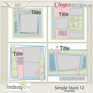 Simple Stack 12 Templates by Lindsay Jane