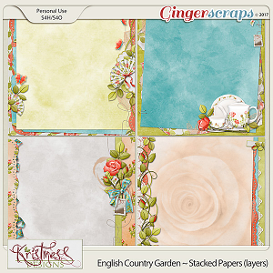 English Country Garden Stacked Papers (layers)