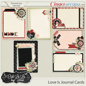 Love Is Journal Cards