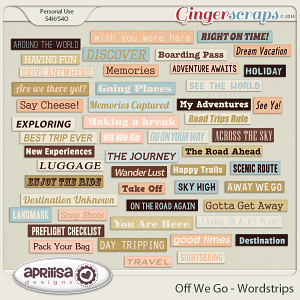 Off We Go Wordstrips by Aprilisa Designs