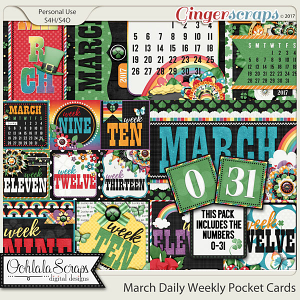 March Daily and Weekly Pocket Cards Bundle