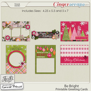 Be Bright - Printable Greeting Cards