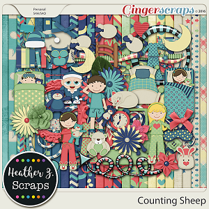 Counting Sheep KIT by Heather Z Scraps