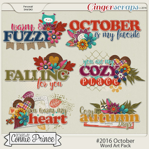 #2016 October - Word Art Pack