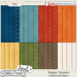 Happy Campers - Embossed Papers