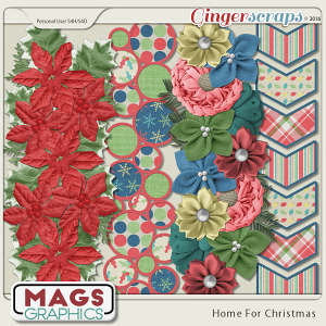 Home For Christmas BORDERS by MagsGraphics