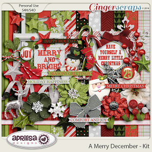 A Merry December - Kit by Aprilisa Designs